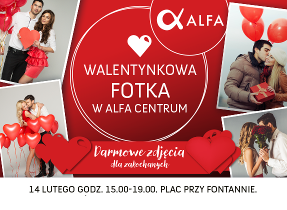Walentynkowa fotka w Alfa Centrum