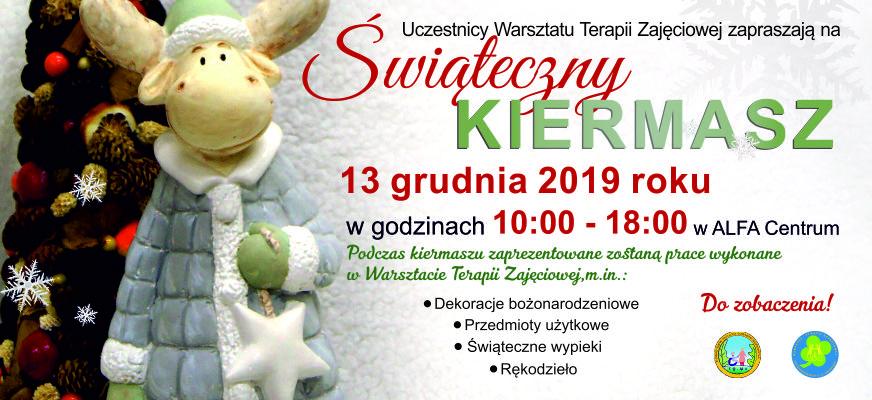 grafika 872x400px Kiermasz świąteczny WTZ 2019